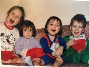 There I am, second from the left, with the empty eyes.