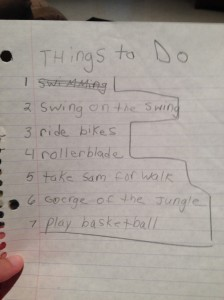 Even back then I half assed exercising as it looks like the only task on my list I accomplished was