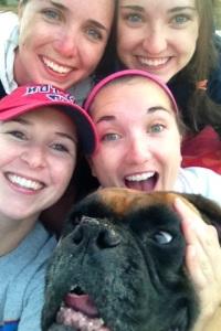 Duke and his girls having fun on vacation.
